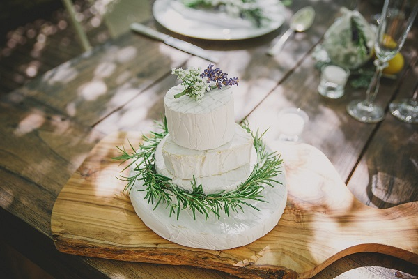 French cheese wedding cake