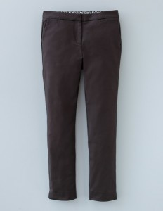 French style black cigarette pants Boden