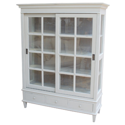 French style grey cabinet
