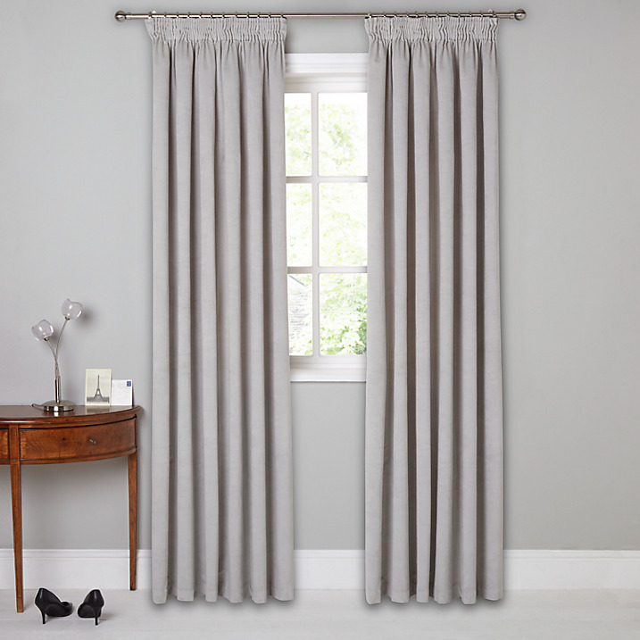 French style curtains grey velvet