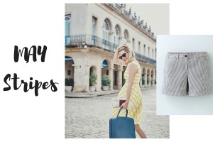 French striped dresses, shorts and skirts