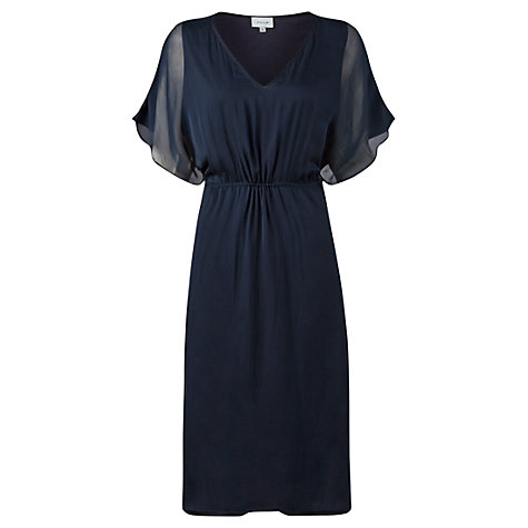 French navy chiffon summer dress