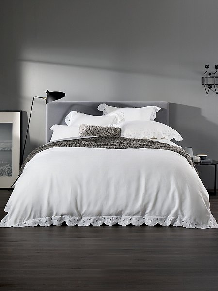 Nothing Promises A Good Nights Sleep Better Than Simple Crisp White Bedding With Little Feminine Flourish Upgrade Yours From 34 30