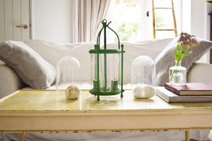 Upcycling an old French light in Antibes Green Annie Sloan Chalk Paint