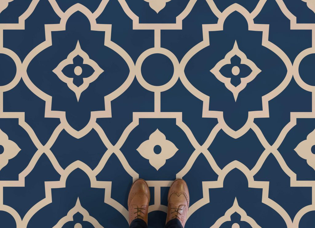 Why moroccan tile print vinyl flooring is so right love for Patterned linoleum tiles