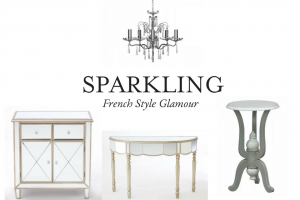 create a glamorous french chic style living room