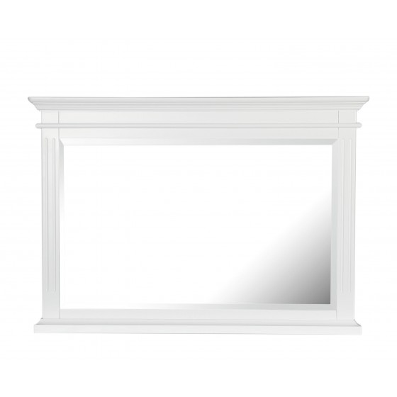 White Overmantel Statement Mirror