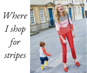 Shop French style stripy tops