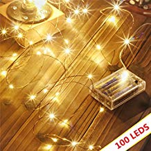 Copper wired fairy lights
