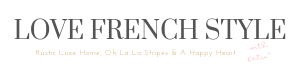 love french style logo. A Chic French Style Home and Interiors Blog