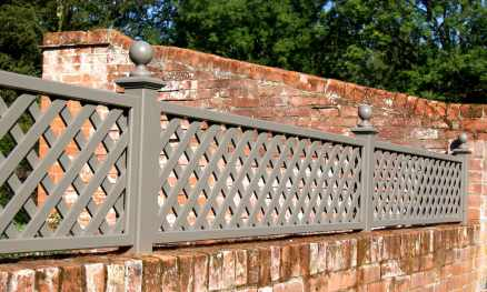 Painted french style trellis