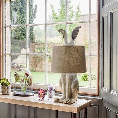French style hare lamp